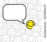 positive smile greeting | Shutterstock .eps vector #452000137