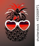 wearing glasses pineapple... | Shutterstock .eps vector #452000971