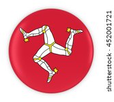 manx flag button   flag of isle ... | Shutterstock . vector #452001721