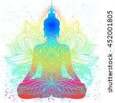 Sitting Buddha With Beautifull...