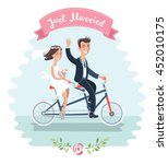 vector illustration of funny... | Shutterstock .eps vector #452010175