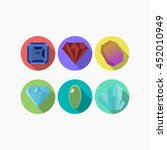 set of gems and mineral with... | Shutterstock .eps vector #452010949