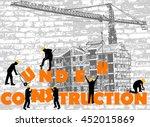 under construction concept  ... | Shutterstock .eps vector #452015869