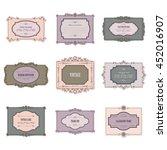 vintage frames and labels set... | Shutterstock .eps vector #452016907