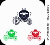 carriage illustration set. blue ... | Shutterstock .eps vector #452018599