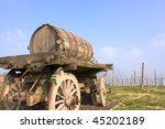 Old Cart Barrel For Transport...