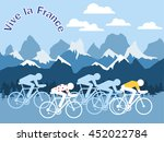 vector flat tour cycling... | Shutterstock .eps vector #452022784