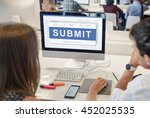 submit application membership... | Shutterstock . vector #452025535