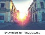 car drive in havana street ... | Shutterstock . vector #452026267