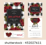 botanic invitation set with... | Shutterstock .eps vector #452027611