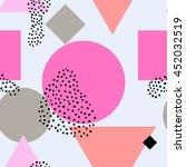 scandinavian seamless pattern | Shutterstock .eps vector #452032519
