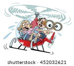 helicopter parents  a couple of ... | Shutterstock .eps vector #452032621