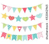 bunting and garland set. cute