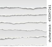 oblong layers of torn white... | Shutterstock .eps vector #452047261