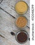 brown indian mustard seed ... | Shutterstock . vector #452048299