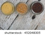 brown indian mustard seed ... | Shutterstock . vector #452048305