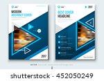 blue brochure design. corporate ... | Shutterstock .eps vector #452050249