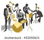 jazz band on isolated background