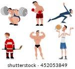 vector illustration of a six... | Shutterstock .eps vector #452053849