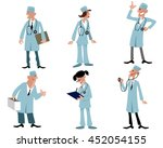vector illustration of a six... | Shutterstock .eps vector #452054155