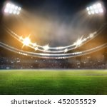 stadium in lights 3d. | Shutterstock . vector #452055529