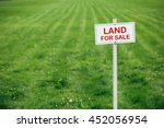 land for sale sign against... | Shutterstock . vector #452056954