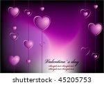 valentine background | Shutterstock .eps vector #45205753