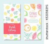 citrus vertical flyer... | Shutterstock .eps vector #452058391