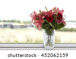 Red And Pink Lilies In A...