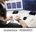 weather report application... | Shutterstock . vector #452064025