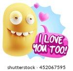 3d rendering. biting lip... | Shutterstock . vector #452067595