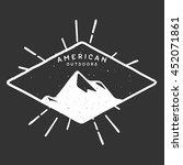 handdrawn adventure logo and... | Shutterstock .eps vector #452071861
