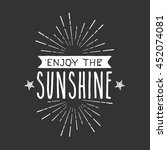 summer vintage badge and quotes | Shutterstock .eps vector #452074081