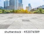 empty pavement and modern... | Shutterstock . vector #452076589
