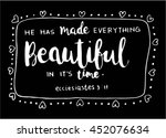 he has made everything... | Shutterstock .eps vector #452076634