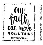 our faith can move mountains on ... | Shutterstock .eps vector #452076637