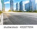 empty road front of modern...   Shutterstock . vector #452077054