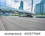 empty road front of modern... | Shutterstock . vector #452077069