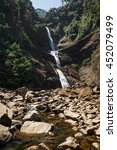 Small photo of Moray Falls, located near mount Adam's Peak. Sri Lanka. Beautiful landscape.