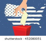 people voting for general... | Shutterstock .eps vector #452080051