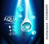 aqua skin collagen serum and... | Shutterstock .eps vector #452084095