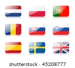 glossy vector flags. set three... | Shutterstock .eps vector #45208777