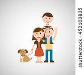 members of the family design ... | Shutterstock .eps vector #452103835