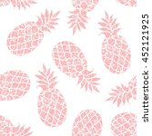 pineapple vector seamless... | Shutterstock .eps vector #452121925