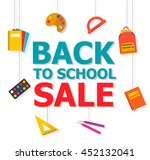 back to school sale colorful... | Shutterstock .eps vector #452132041