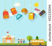 back to school background with... | Shutterstock .eps vector #452132044