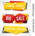 final sale banner. big sale... | Shutterstock .eps vector #452144605