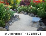 A Curved Garden Path Edged Wit...
