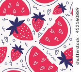 funky summer background pattern ... | Shutterstock .eps vector #452160889
