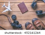 travel accessories and costume... | Shutterstock . vector #452161264